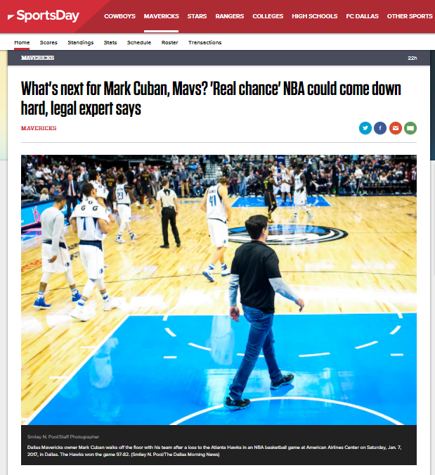 What's next for Mark Cuban, Mavs? 'Real chance' NBA could