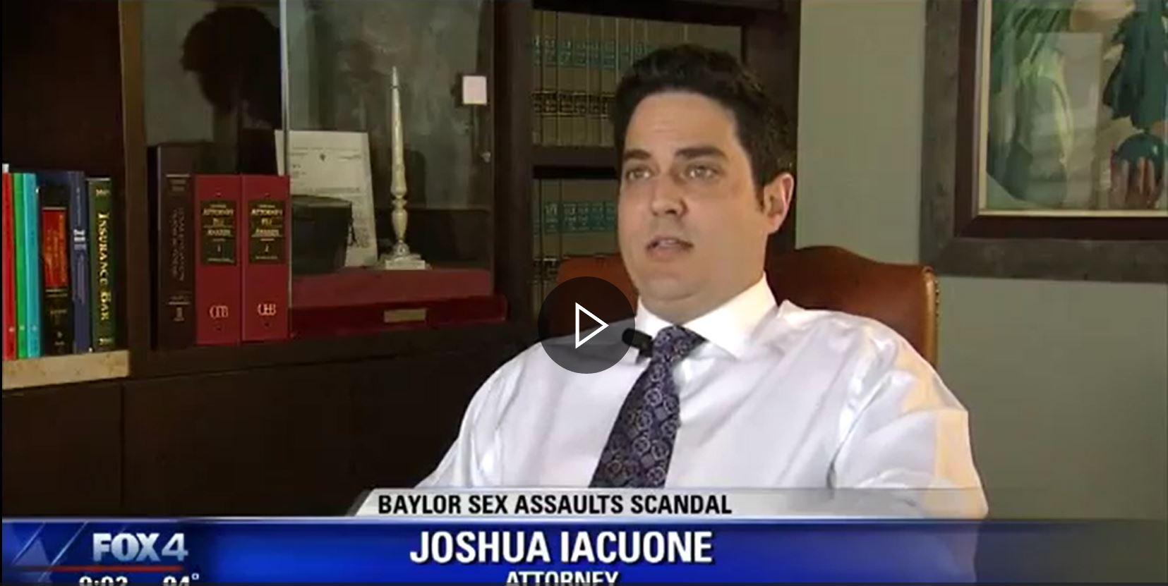 Joshua Iacuone interview on Fox4 News | Baylor Sex Assaults